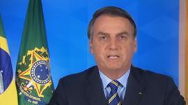 Bolsonaro modera o tom e prega
