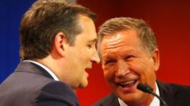 Ted Cruz (left) and John Kasich