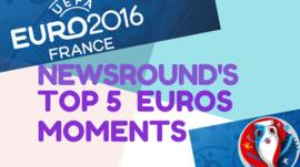 Newsround's Top 5 Euros Moments