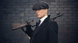 Cillian Murphy playing character Tommy Shelby
