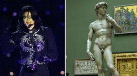 Michael Jackson and MIchelangelo's David