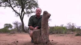 Chris on safari