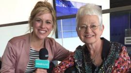 Jacqueline Wilson and Newsround's Jenny