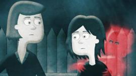 Animated picture of Cristina and Annabelle