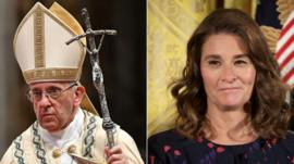 Pope Francis and Melinda Gates