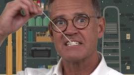 Aaron Heslehurst chewing gum