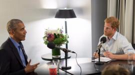 مقابلة أوباما مع الأمير هاري تناولت موضوعات مختلفة