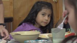 A child of a migrant worker in Florida