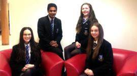 Reporters from Our Lady & St Patrick's College, Knock