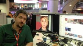 BBC YouTube editor at his desk