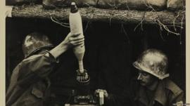 Pracinhas brasileiros durante a guerra | Foto da pesquisa de Vinicius Mariano de Carvalho, King's College, cedida pelo Arquivo Histórico do Exército