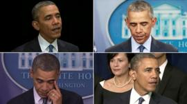 President Obama makes speeches after nine separate mass shootings