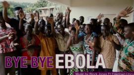 Sierra Leone people celebrating the end of Ebola - video courtesy of YouTube