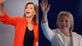 Mary Civiello and Hillary Clinton