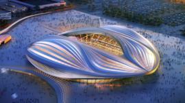 卡塔尔为2022年世界杯建设的体育馆Al Wakrah Stadium