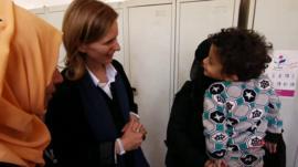 Orla Guerin meets children in Yemen