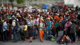 مهاجرون يقطعون آلاف الأميال عبر المكسيك للوصول إلى الولايات المتحدة