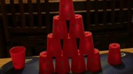 Cups stacked
