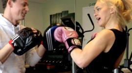 Kate trains with boxer Matt