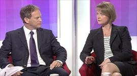 Grany Shapps and Yvette Cooper