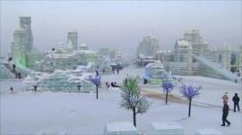 Harabin's ice sculptures