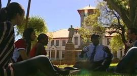 Students at the University of the Free State