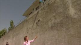 Orla Guerin outside Bin Laden's complex