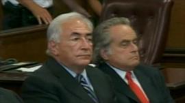 Mr Strauss-Kahn in court