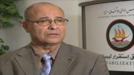 Ahmed Jehani, head of the Libyan Stabilisation Team at Libya's National Transitional Council