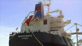 The 56,000-tonne bulk carrier Montecristo