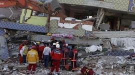 Scene of earthquake