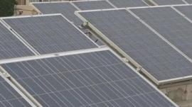 Solar panels were donated by an Italian group
