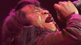 James Brown singing