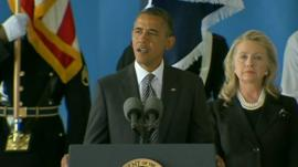 US President Barack and Secretary of State Hillary Clinton