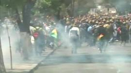 miners clashing