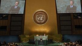 David Cameron at the UN