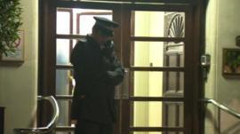 Policeman outside King Edward VII hospital