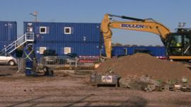Fracking site in Lancashire
