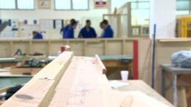 Prisoners in a workshop