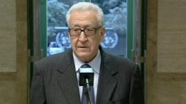 UN envoy to Syria Lakhdar Brahimi
