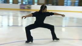 Member of Le Patin Libre ice skating