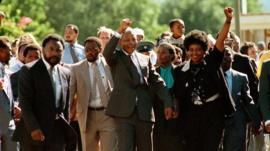 Nelson Mandela is released from prison