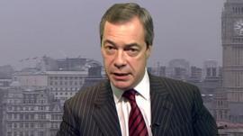 UKIP leader, Nigel Farage