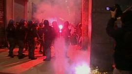 Clashes in Milan