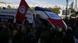 Tunisian protesters