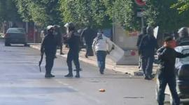 Tunisian police clash with protesters