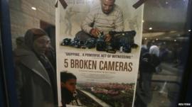 Poster of Five Broken Cameras in Ramallah