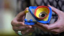 A camera which has had its design