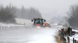 A tractor near Buxton