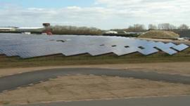 Solar farm in Wymeswold